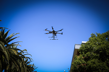Drone on Central Walkway